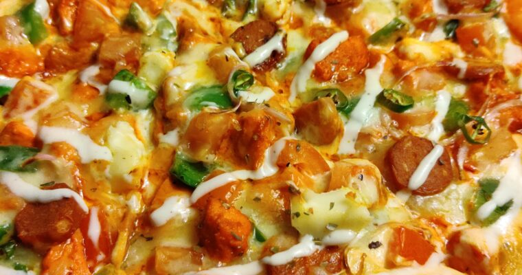 Creamy Chicken Tikka Pizza-California Pizza's Copycat
