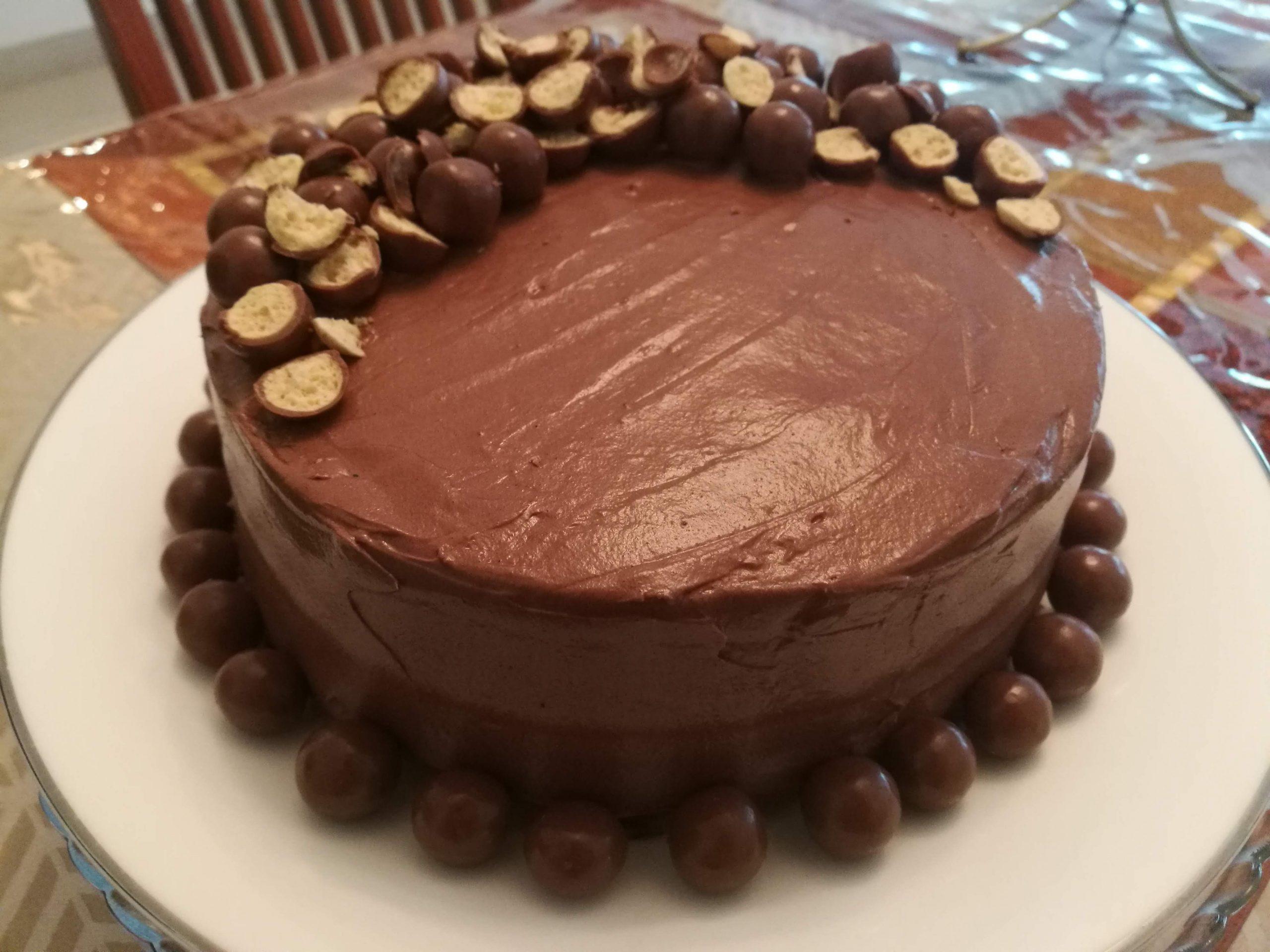 Chocolate Malt Cake With Maltesers
