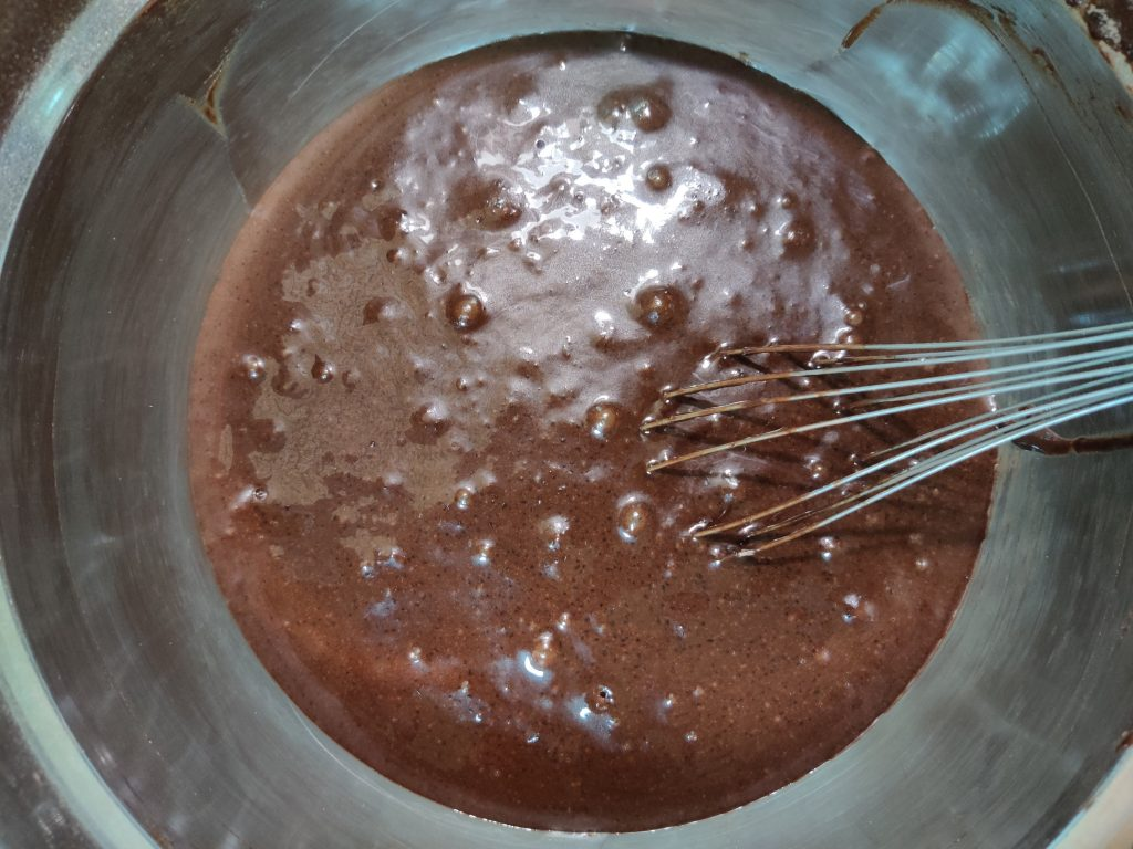batter for chocolate cake