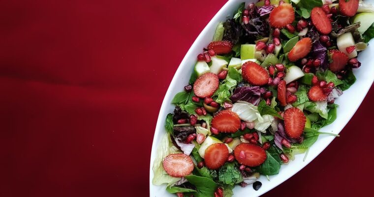 Strawberry Boat Salad